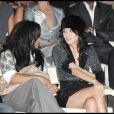Janet Jackson et Ziyi Zhang au défilé Giorgio Armani lors de la Fashion Week italienne à Milan le 24 septembre 2009