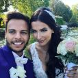 Julie Ricci et Pierre-Jean Cabrières le jour de leur mariage, photo Instagram du 6 mai 2020