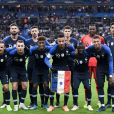 Olivier Giroud, Clément Lenglet, Benjamin Pavard, 16 STEVE MANDANDA (FRA), Raphaël Varane, Antoine Griezmann, Lucas Digne, 11 KINGSLEY COMAN (FRA), Corentin Tolisso, N'Golo Kanté, Kylian Mbappé, PHOTO D EQUIPE - Qualifications Euro 2020 : La France s'impose contre la Moldavie (2-1). Au stade de France, le 14 novembre 2019. © Anthony Bibard / Panoramic / Bestimage