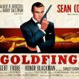 """Affiche du film """"Goldfinger"""" de Guy Hamilton. 1965."""