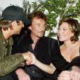Johnny Hallyday et ses enfants Laura Smet et David Hallyday en 2003.
