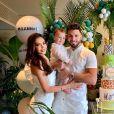Nabilla, ancienne candidate de télé-réalité, est heureuse et épanouie aux côtés de son mari Thomas Vergara et de leur fils Milann (1 an).
