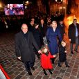 Le prince Albert II de Monaco, sa femme la princesse Charlene et leurs enfants le prince héréditaire Jacques et la princesse Gabriella durant la célébration de la Sainte Dévote, Sainte patronne de Monaco, à Monaco le 26 janvier 2020. © Bruno Bebert/Bestimage