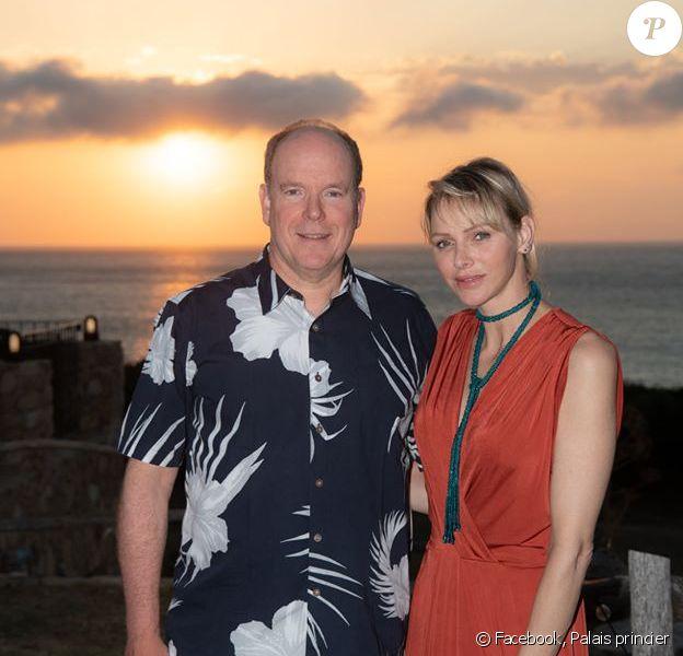 Le prince Albert de Monaco, son épouse Charlene et leurs deux enfants Jacques et Gabriella (5 ans), été 2020, jour des 9 ans de mariage du couple souverain.