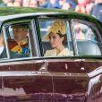 Le prince William, duc de Cambridge, et Catherine (Kate) Middleton, duchesse de Cambridge arrivent à la parade Trooping the Colour 2019, célébrant le 93ème anniversaire de la reine Elisabeth II, au palais de Buckingham, Londres, le 8 juin 2019.