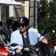 Exclusif - Gérard Depardieu déjeune avec une amie dans un restaurant japonais de Saint-Germain-des-Prés à Paris le 18 septembre 2020.