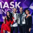 """Anggun, Jarry, Alessandra Sublet et Kev Adams sont les membres du jury de """"Mask Singer"""" sut TF1, émission animée paér Camille Combal."""