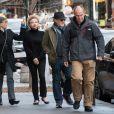 Steven Spielberg, Kate Capshaw et leur fille Mikaela George Spielberg à Tribeca, New York. Le 27 décembre 2016. @Splash News/ABACAPRESS.COM
