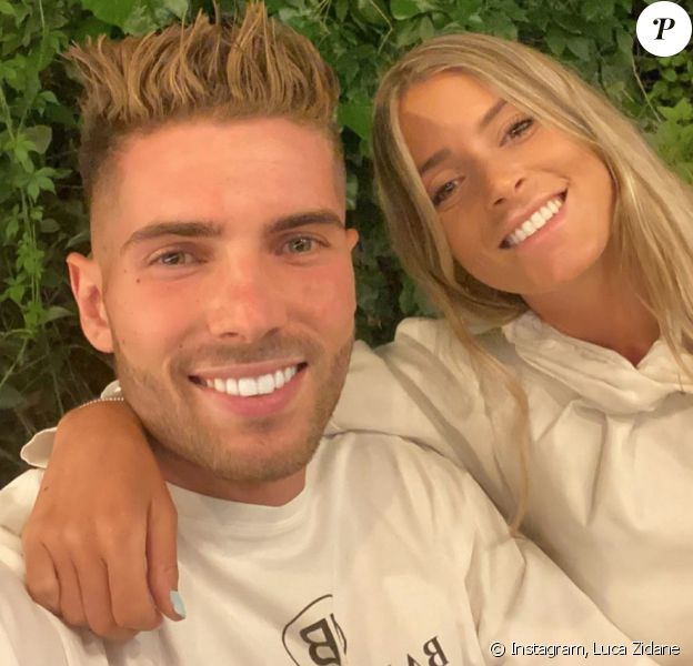 Luca Zidane et sa petite amie Marina. Septembre 2020.
