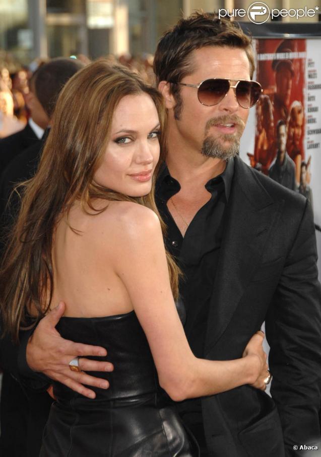 Angelina Jolie et Brad Pitt, lors de l'avant-première d'Inglourious Basterds à Los Angeles, le 10 août 2009.