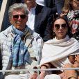 Dominique Desseigne et sa compagne Alexandra Cardinale dans les tribunes des internationaux de France de tennis de Roland Garros à Paris, France, le 8 juin 2019. © Jacovides / Moreau/Bestimage