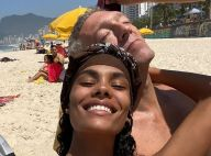 Tina Kunakey et Vincent Cassel câlins à la plage, la passion au Brésil