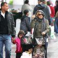 Kate Hudson et Alex Rodriguez accompagnés de leurs enfants