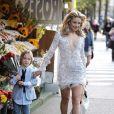 Kate Hudson en plein shooting pour le magazine Harper's Bazaar
