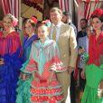 La famille royale des Pays-Bas, Le roi Willem-Alexander et la reine Maxima des Pays-Bas avec leurs filles la princesse héritière Amalia, la princesse Alexia et la princesse Ariane, à la féria de Séville, Espagne, le 10 mai 2019.