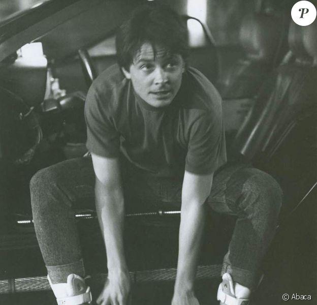 """Michael J. Fox dans le rôle de Marty McFly dans """"Retour vers le futur""""."""