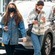 Exclusif - Katie Holmes et sa fille Suri Cruise passent l'après midi ensemble à New York le 13 décembre 2020.