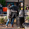 Exclusif - Katie Holmes et son compagnon Emilio Vitolo Jr. sont allés au musée en amoureux à New York le 1er décembre 2020