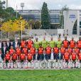 Photo officielle de l'équipe première du FC Lorient et du staff avant la rencontre des Merlus face aux Stade Rennais à Rennes, le 9 octobre 2020. © Bruno Perrel / Panoramic / Bestimage