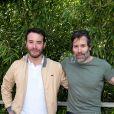 Yaniss Lespert et son frère Jalil Lespert au village lors des internationaux de France de Roland Garros à Paris, le 9 juin 2017. © Dominique Jacovides - Cyril Moreau/ Bestimage