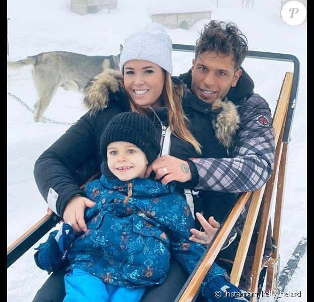 Kelly Helard et Neymar avec leur fils Lyam, sur Instagram