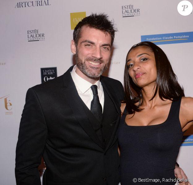 Exclusif - Gil Alma et sa femme Aminata lors de la soirée de gala au profit de la fondation Pompidou à l'hôtel Marcel Dassault à Paris, France. © Rachid Bellak-LMS/Bestimage