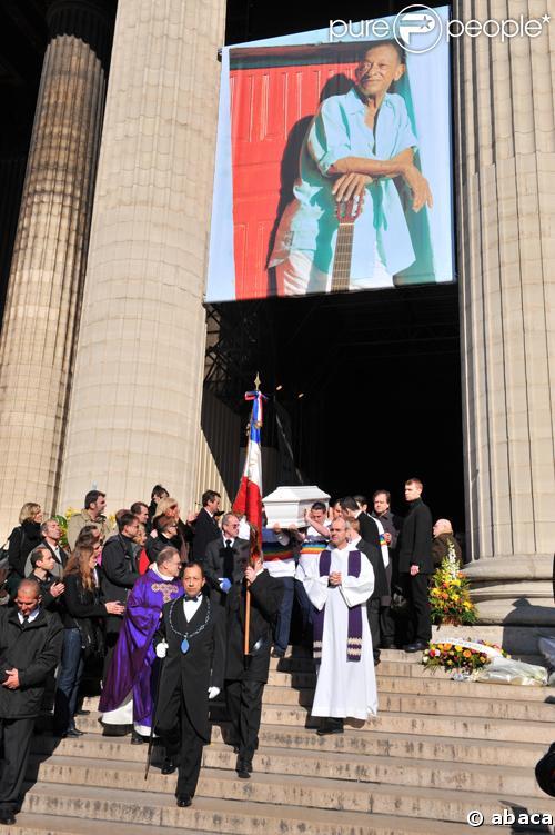 Les obsèques d'Henri Salvador, le 16 février 2008, en l'Eglise de la Madeleine