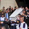aux obsèques d'Henri Salvador, le 16 février 2008, en l'Eglise de la Madeleine