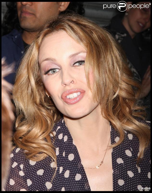 Kylie Minogue à New York, le 11 octobre 2009