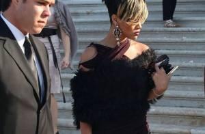 La craquante Rihanna très courte, très lookée, très décolletée... à l'occasion d'un mariage vénitien !