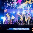 """Les candidats français à l'Eurovision 2021 - Enregistrement de l'émission """"Fête de la chanson française"""" à l'Olympia à Paris, qui sera diffusée le 9 janvier sur France 2. © Tiziano Da Silva - Cyril Moreau / Bestimage"""