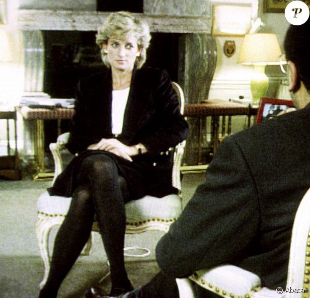 """Diana lors de son interview avec Martin Bashir pour l'émission """"Panorama"""" sur la BBC"""