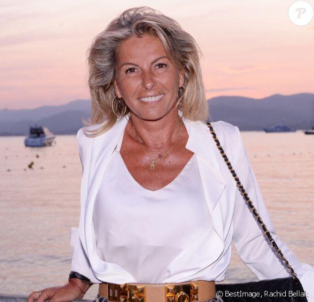 Exclusif - Caroline Margeridon - Soirée Marcel Campion au restaurant La Bouillabaisse Plage de Saint-Tropez, France. © Rachid Bellak/Bestimage