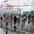 Jean-Michel Blanquer, ministre de l'éducation nationale et Tony Estanguet sont en visite à l'école Claude Bernard à Paris dans le cadre de l'opération 30 minutes d'activité physique quotidienne à l'école le 2 février 2021. © Federico Pestellini / Panoramic / Bestimage