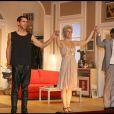 """Paul Belmondo et Delphine Depardieu sont les protagonistes de la pièce """"Un oreiller... ou trois ?"""", au Théâtre des Nouveautés. 19/10/09"""