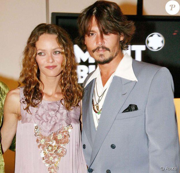 Vanessa Paradis et Johnny Depp sont symbole d'harmonie en Suisse pour la soirée Mont-Blanc en avril 2006