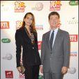 Ir  ène Salvador et le baron Edouard de Rotschild   nà la soirée organisée pour les 10 ans de la chaîne Equidia. 20/10/09
