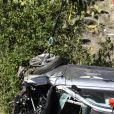Illustration de la voiture SUV de Tiger Woods après l'accident