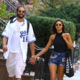 Joakim Noah et Lais Ribeiro à New York le 11 septembre 2019.