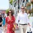Pippa Middleton et son mari James Matthews lors des Internationaux de Tennis de Roland-Garros à Paris, France, le 27 mai 2018. © Jacovides-Moreau/Bestimage