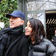 Gad Elmaleh, Leïla Bekhti - Les invitées de Michel Drucker arrivent au studio Gabriel pour l'enregistrement de l'émission Vivement Dimanche, Paris. Le 18 mars 2019.