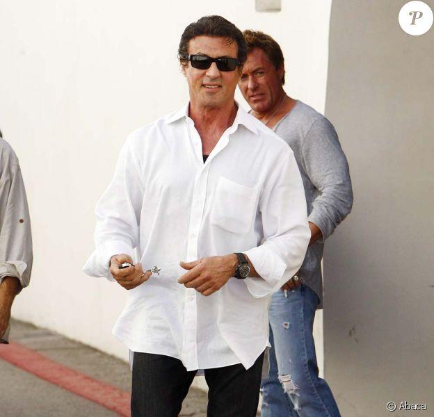 Sylvester Stallone à la sortie d'un restaurant le 24 octobre 2009 !