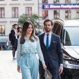 Le prince Carl Philip de Suède et la princesse Sofia viennent assister à une performance théâtrale au Stockholm City Theatre à Stockholm le 23 septembre 2020.