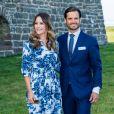 La princesse Sofia (Hellqvist) , le prince Carl Philip - La famille royale de Suède se retrouve au palais Solliden pour le Victoria Day, l'anniversaire de la princesse Victoria de Suède à Borgholm le 14 juillet 2020.