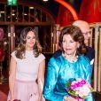 """La reine Silvia, la Princesse Sofia de Suède - La famille royale de Suède assiste au concert de l'école de musique """"Lilla Akademien"""" à Stockholm, le 13 février 2020."""