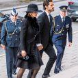 Le prince Carl Philip de Suède, la princesse Sofia (Hellqvist) - Obsèques de La comtesse de Wisborg, Dagmar von Arbin à L'église de Oscar à Stockholm le 4 février 2020.