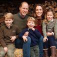 Portrait de famille du prince William, Kate Middleton et leurs trois enfants, George, Charlotte et Louis, pour leur carte de voeux.
