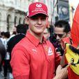 Mick Schumacher - L'écurie de Formule 1 de Ferrari célèbre les 90 ans du célèbre constructeur italien à Monza, le 4 septembre 2019.