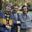 En France, portrait en extérieur des Charlots, avec Gérard Fillipelli, Jean Sarrus et Gérard Rinaldi, au début des années 80.