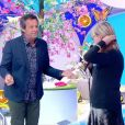 """Chantal Ladesou a perdu ses extensions en pleine émission dans """"Les 12 coups de midi"""", présentée par Jean-Luc Reichmann."""